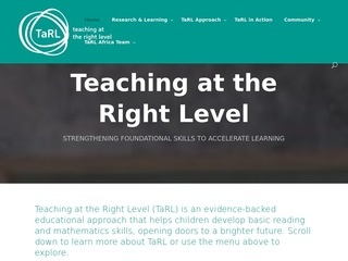 TaRL - Teaching at the Right Level